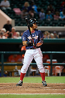 Florida Fire Frogs Carlos Castro (53) bats during the Florida State League All-Star Game on June 17, 2017 at Joker Marchant Stadium in Lakeland, Florida.  FSL North All-Stars defeated the FSL South All-Stars  5-2.  (Mike Janes/Four Seam Images)