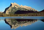 Mt. Rundle reflection, Banff, Alberta, Canada
