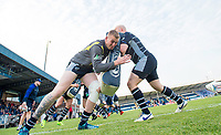 Picture by Allan McKenzie/SWpix.com - 11/05/2017 - Rugby League - Ladbrokes Challenge Cup - Featherstone Rovers v Halifax RLFC - The LD Nutrition Stadium, Featherstone, England  - Featherstone players warm up prior to the game against Halifax.