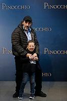Massimo Ceccherini as 'the fox' and Davide Marotta as the The Talking Cricket <br /> Rome December 12th 2019. Pinocchio Photocall in Rome<br /> Foto Samantha Zucchi Insidefoto