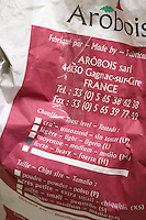 Arbois bag with oak chips heavy toast extra small size. Domaine Jean Louis Denois. Limoux. Languedoc. France. Europe.