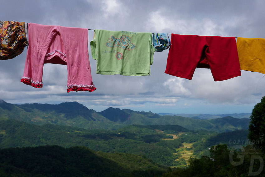 """The washing"" Banaue Mountain Province Rice Terraces Philippines"