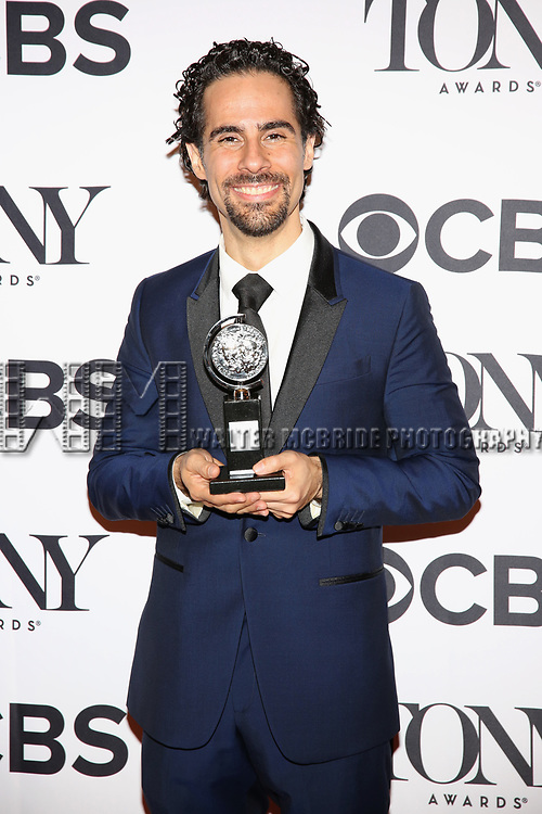 NEW YORK, NY - JUNE 11:  Alex Lacamoire poses with award at the 71st Annual Tony Awards, in the press room at Radio City Music Hall on June 11, 2017 in New York City.  (Photo by Walter McBride/WireImage)