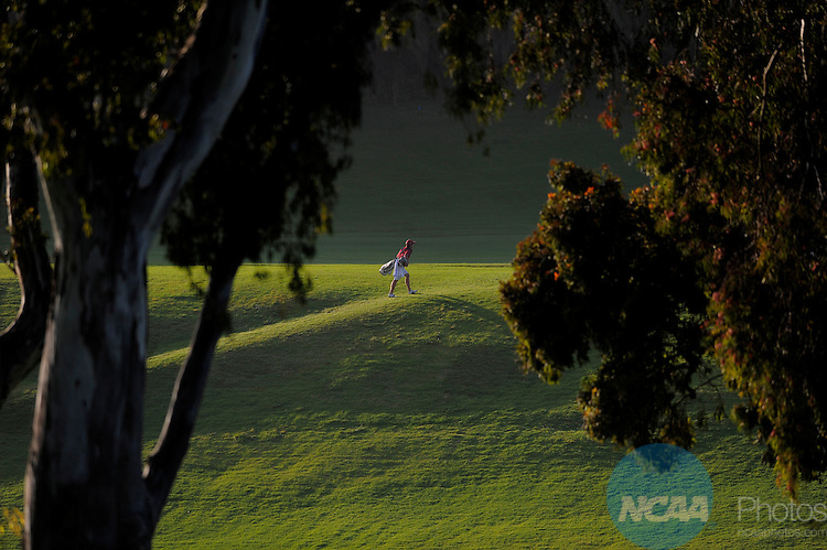 31 MAY 2012:  An unidentified golfer walks the course during the Division I Men's Golf Championship held at the Riviera Country Club in Pacific Palisades, CA.  Jack Dempsey/NCAA Photos