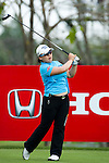 CHON BURI, THAILAND - FEBRUARY 17:  Jiyai Shin of South Korea tees off on the 2nd hole during day one of the LPGA Thailand at Siam Country Club on February 17, 2011 in Chon Buri, Thailand.  Photo by Victor Fraile / The Power of Sport Images