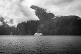 NEW ZEALAND, Fiordland National Park, A Cruise Ship in Milford Sound,  Ben M Thomas