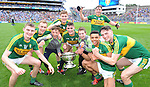 The minor team celebrate after winning the All-Ireland Minor final at Croke on Sunday.<br /> Photo: Don MacMonagle