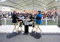 LOS ANGELES, CA -APRIL 14: Janet Napolitano, Scott Kraft, at 2019 Los Angeles Times Festival Of Books Day 2 at University of Southern California in Los Angeles, California on April 14, 2019.<br /> CAP/MPI/FS<br /> &copy;FS/MPI/Capital Pictures