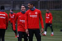 Omar Mascarell (Eintracht Frankfurt), Sebastien Haller (Eintracht Frankfurt) - 05.12.2017: Eintracht Frankfurt Training, Commerzbank Arena