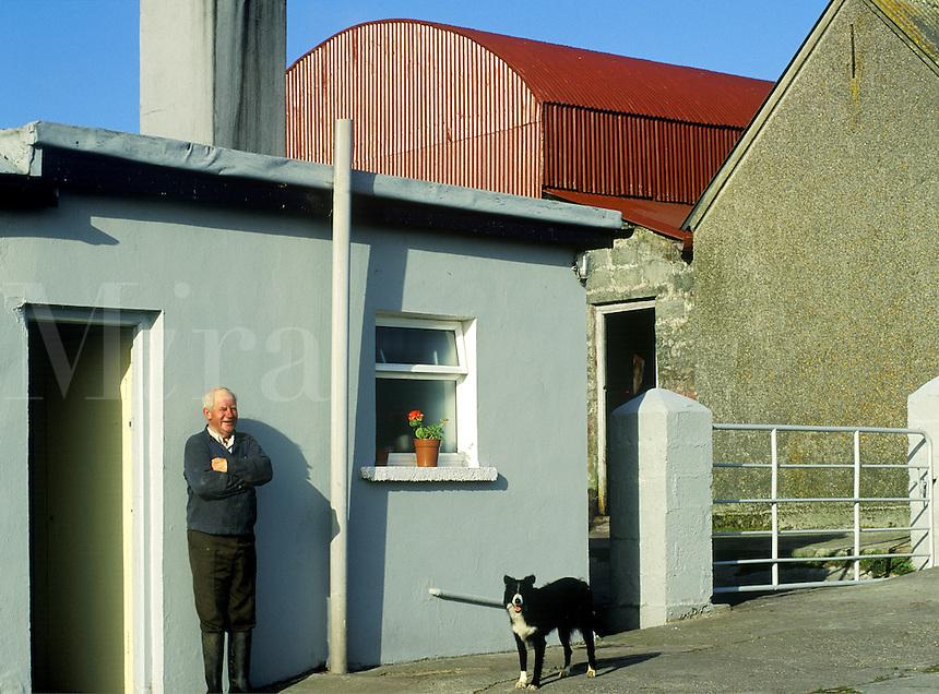 Portrait of an Irish farmer, County Kerry, Ireland