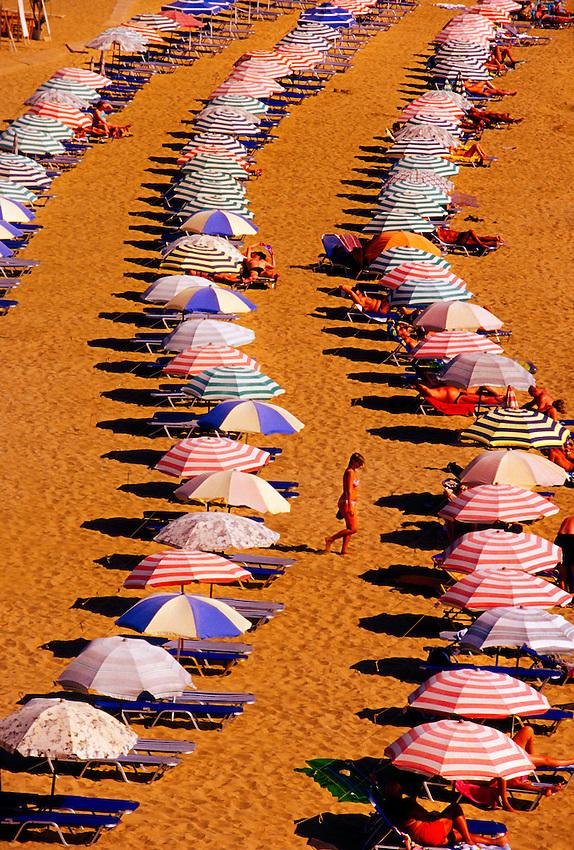 Agia Agathi Beach, Island of Rhodes, Dodecanese, Greece