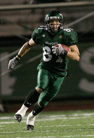 DENTON, TX  NOVEMBER 19: Johnny Quinn #81 - University of North Texas Mean Green vs University Louisiana Monroe Warhawks at Fouts Field in Denton on November 19, 2005 in Denton, TX. ULM won 24-19. Photo by Rick Yeatts