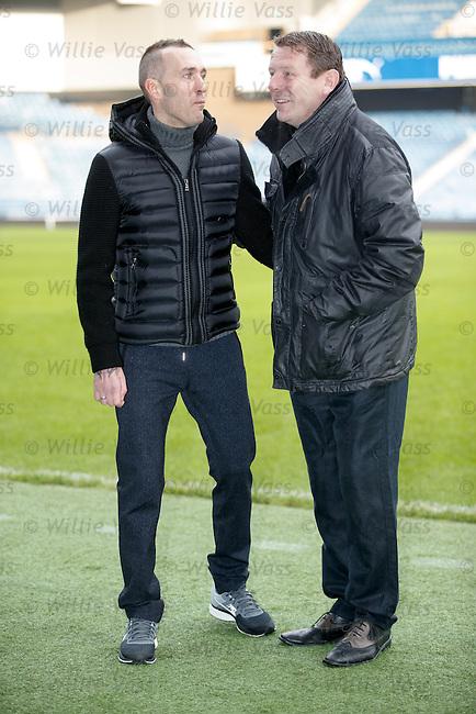 Fernando Ricksen with Andy Goram at Ibrox Stadium this morning