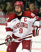 Danny Biega (Harvard - 9) - The Yale University Bulldogs defeated the Harvard University Crimson 5-1 on Saturday, November 3, 2012, at Bright Hockey Center in Boston, Massachusetts.