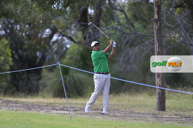 Ricardo Gonzalez (ARG) on the 18th during Round 2 of the ISPS HANDA Perth International at the Lake Karrinyup Country Club on Friday 24rd October 2014.<br /> Picture:  Thos Caffrey / www.golffile.ie