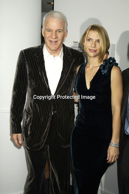 """Steve Martin and Claire Danes ..at a special  screening of """"Shopgirl"""" on October 17, 2005 hosted by Tina Brown and Harry Evans at the New Beekman  Theatre. ..Photo by Robin Platzer, Twin Images"""