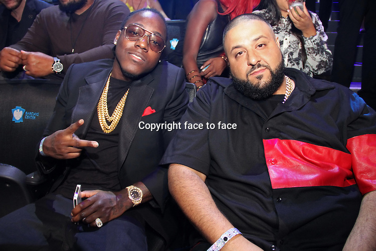 NEW YORK, NY - AUGUST 25: Ace Hood &amp; DJ Khaled at the 2013 MTV Video Music Awards August 25, 2013 at the Barclays Center in New York City. <br />