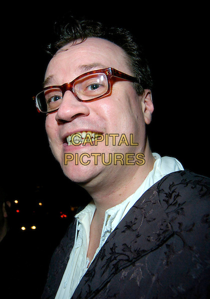 GUEST.Arrives at the pantomime themed fancy dress party reception for Matt Lucas & Kevin McGee following their civil partnership ceremony (wedding) earlier the same day, Banquetting House, Whitehall, London, England, .17th December 2006..portrait headshot glasses funny.CAP/CAN.©Can Nguyen/Capital Pictures