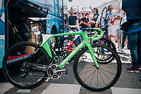 Arnaud D&eacute;mare's (FRA/FDJ) (customised) full green race machine<br /> <br /> 104th Tour de France 2017<br /> Stage 5 - Vittel &rsaquo; La Planche des Belles Filles (160km)