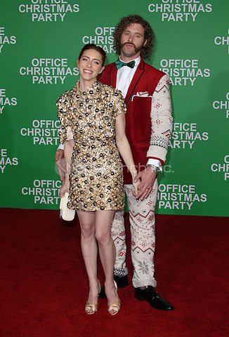 """Westwood, CA - DECEMBER 07: T. J. Miller, Kate Gorney, At Premiere Of Paramount Pictures' """"Office Christmas Party"""" At Regency Village Theatre, California on December 07, 2016. Credit: Faye Sadou/MediaPunch"""