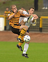 13/08/2002                   Copyright Pic : James Stewart.File Name : stewart-alloa v ross cty 02.ALLOA'S BROWN FERGUSON COLLIDES WITH MARTIN WOOD....Payments to :-.James Stewart Photo Agency, 19 Carronlea Drive, Falkirk. FK2 8DN      Vat Reg No. 607 6932 25.Office     : +44 (0)1324 570906     .Mobile  : +44 (0)7721 416997.Fax         :  +44 (0)1324 570906.E-mail  :  jim@jspa.co.uk.If you require further information then contact Jim Stewart on any of the numbers above.........