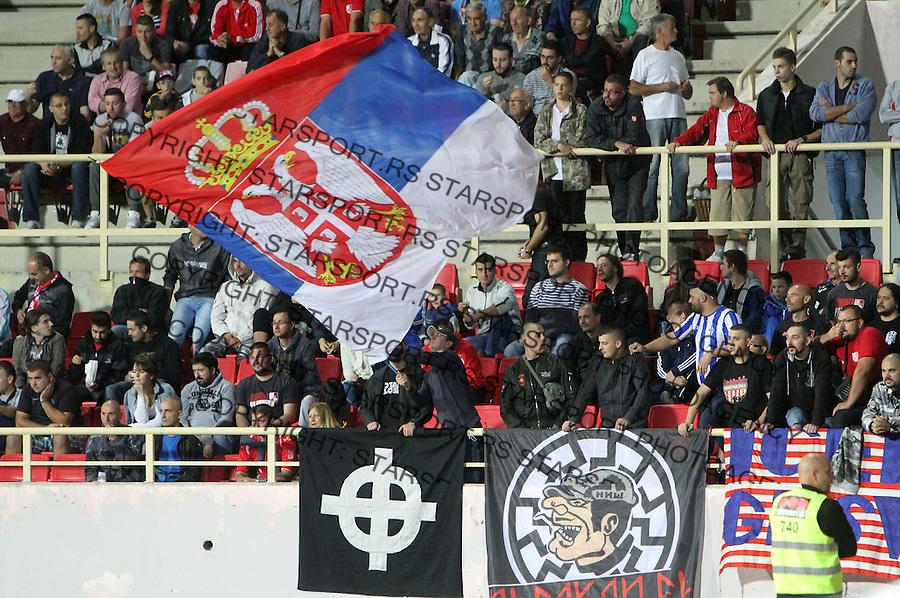 Fudbal Super liga season 2015-2016<br /> Radnicki (Nis) v Radnik <br /> Radnicki navijaci<br /> Nis, 21.08.2015.<br /> foto: Sasa Djordjevic/Starsportphoto &copy;