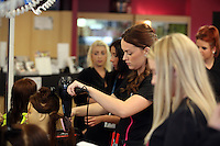 Pictured: Hairdressing. Tuesday 23 September 2014<br />