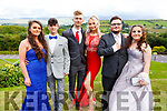 Tammy O'Shea, Teddy Foran, Jakub Zlotocki, Yvette Daly, Kieran Condon and Michaela Murphy attending the Presentation Tralee Debs in the Ballyroe Hotel on Tuesday.