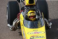 Feb 21, 2015; Chandler, AZ, USA; NHRA competition eliminator driver Bill Kent during qualifying for the Carquest Nationals at Wild Horse Pass Motorsports Park. Mandatory Credit: Mark J. Rebilas-