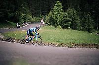descending the Passo della Mauria<br /> <br /> stage 15: Tolmezzo &ndash; Sappada (176 km)<br /> 101th Giro d'Italia 2018