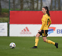 20190403  - Tubize , BELGIUM : Belgian Amber Tysiak pictured during the soccer match between the women under 19 teams of Belgium and Switzerland , on the first matchday in group 2 of the UEFA Women Under19 Elite rounds in Tubize , Belgium. Wednesday 3 th April 2019 . PHOTO DIRK VUYLSTEKE / Sportpix.be