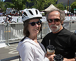 Dottie Clevenger and Tim Stephens during the Tour De Nez Bike Race in downtown Reno on Saturday, June 11, 2016.
