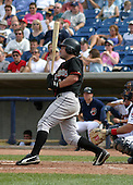 August 24, 2003:  Cory Harris of the Delmarva Shorebirds, Class-A affiliate of the Baltimore Orioles, during a South Atlantic League game at Classic Park in Eastlake, OH.  Photo by:  Mike Janes/Four Seam Images