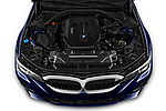 Car Stock 2020 BMW 3-Series M-Sport 5 Door Wagon Engine  high angle detail view