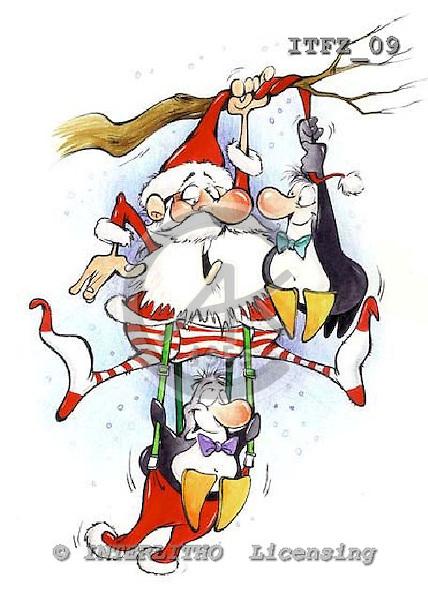 Fabrizio, Comics, CHRISTMAS SANTA, SNOWMAN, paintings, ITFZ09,#x# stickers Weihnachten, Navidad, illustrations, pinturas
