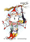 Fabrizio, Comics, CHRISTMAS SANTA, SNOWMAN, paintings, ITFZ09,#x# stickers Weihnachten, Navidad, illustrations, pinturas