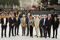 LONDON, ENGLAND - SEPTEMBER 12: James Marsh, Joe Penhall, Charlie Cox, Michael Gambon, Michael Caine, Francesca Annis, Ray Winstone, Paul Whitehouse, Tom Courtenay, Jim Broadbent and Jamie Cullum attending the World Premiere of 'King Of Thieves' at Vue West End, Leicester Square on September 12, 2018 in London, England.<br /> CAP/MAR<br /> &copy;MAR/Capital Pictures