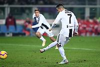 Gol su rigore Cristiano Ronaldo Juventus. Goal celebration.<br /> Torino 15-12-2018 Stadio Olimpico Football Calcio Serie A 2018/2019 Torino - Juventus <br /> Foto Image Sport / Insidefoto