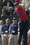 USA Team player Hunter Mahan drives off on the 1st tee during the Singles on the Final Day of the Ryder Cup at Valhalla Golf Club, Louisville, Kentucky, USA, 21st September 2008 (Photo by Eoin Clarke/GOLFFILE)