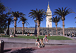 Ferry Building and park in San Francisco