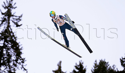 13.12.2013 Titisee-Neustadt Germany. Mens World Cup Ski-Jumping Training and Qualification. Marinus Kraus (GER) .