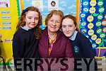 Doireann and Aoibhinn with their grandmother Tess McDermott at the Grandparent day in O'Breannain NS on Tuesday.