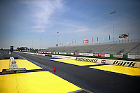 May 30, 2013; Englishtown, NJ, USA: General view of the starting line and grandstands of Raceway Park. Mandatory Credit: Mark J. Rebilas-