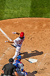 30 April 2017: Washington Nationals third baseman Anthony Rendon hits his second of three home runs in the 4th inning against the New York Mets at Nationals Park in Washington, DC. The Nationals defeated the Mets 23-5, with the Nationals setting several individual and team records, in the third game of their weekend series. Mandatory Credit: Ed Wolfstein Photo *** RAW (NEF) Image File Available ***