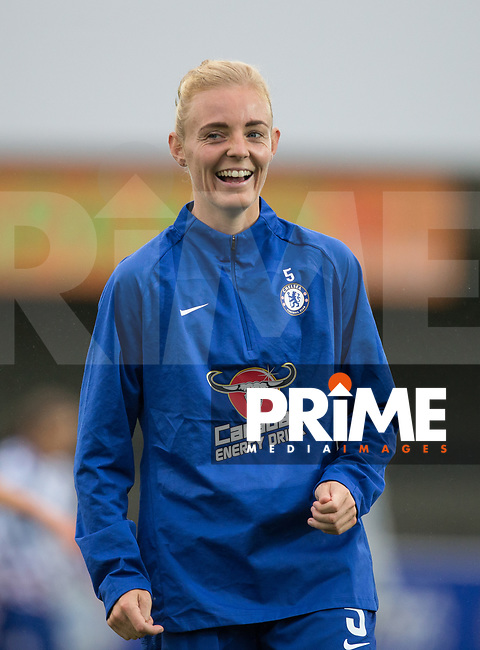 Sophie Ingle of Chelsea pre match during the FAWSL match between Chelsea Ladies and Arsenal Ladies at the Cherry Red Records Stadium, Kingston, England on 14 October 2018. Photo by Andy Rowland.
