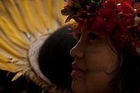 XI Jogos dos Povos Indígenas - <br /> Foto Paulo Santos<br /> 07/11/2011<br /> Ilha de Porto Real, Porto Nacional, Brasil