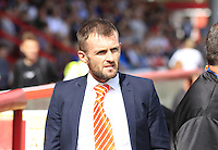 Luton Town manager Nathan Jones before the Sky Bet League 2 match between Stevenage and Luton Town at the Lamex Stadium, Stevenage, England on 20 August 2016. Photo by Liam Smith.