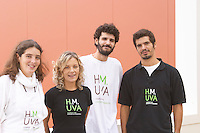 Winery workers and Sofia Uva, daughter of Henrique. Henrque HM Uva, Herdade da Mingorra, Alentejo, Portugal
