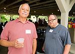 WATERBURY, CT-071517JS06--Rob Bronson and Carl Giordano at the Third Annual O&G Industries Retiree Picnic held Saturday at La Bella Vista in Waterbury.  Jim Shannon Republican-American