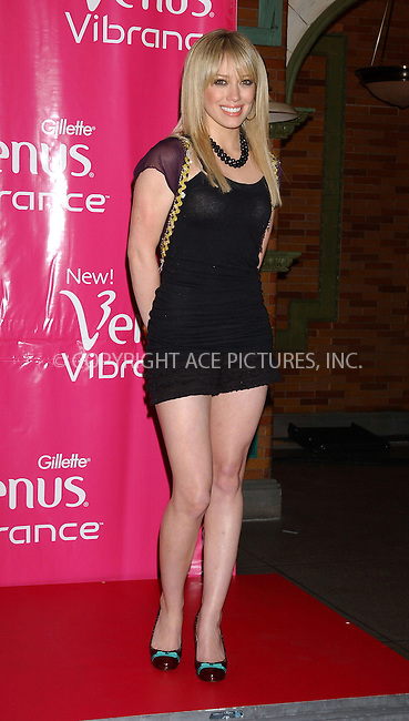 WWW.ACEPIXS.COM . . . . . ....NEW YORK, JUNE 10, 2005....Hilary Duff at the Legs of a Goddess Contest and launch of Gillette's New Venus Vibrance at Times Square Studios.....Please byline: KRISTIN CALLAHAN - ACE PICTURES.. . . . . . ..Ace Pictures, Inc:  ..Craig Ashby (212) 243-8787..e-mail: picturedesk@acepixs.com..web: http://www.acepixs.com